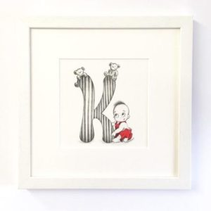 Personalised unique original gift present baby letter name