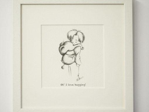 """Illustration """" Boy with Elephant"""""""