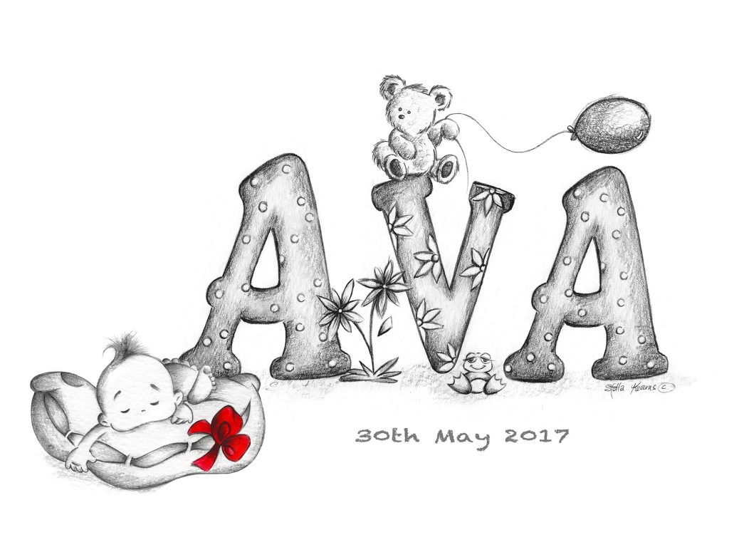 Personalized baby name gifts. The perfect for a new baby or birthday for older child